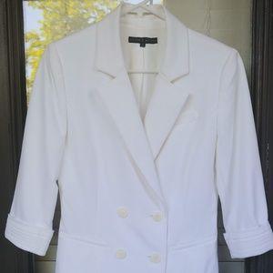 Antonio Melani White Cuffed Blazer Size 4